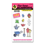 Art Impressions - Holiday Mansion Collection - Stamp and Die Set - Garden