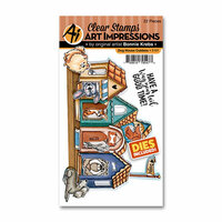 Art Impressions - Cubbies Collection - Stamp and Die Set - Dog House