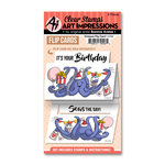 Art Impressions - Flip Card Collection - Clear Photopolymer Stamp Set - Octopus