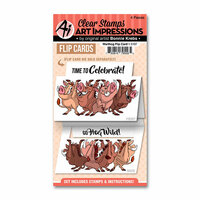 Art Impressions - Flip Card Collection - Clear Photopolymer Stamp Set - Warthog
