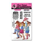 Art Impressions - Clear Photopolymer Stamp Set - Cowgirls