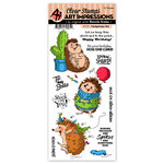 Art Impressions - Clear Photopolymer Stamp Set - Hedgehogs