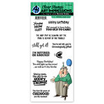 Art Impressions - Clear Photopolymer Stamp Set - Laugh Lines - Birthday