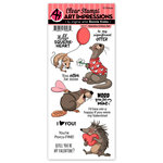 Art Impressions - Clear Photopolymer Stamp Set - Valentine Critters