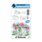 Art Impressions - Watercolor Collection - Unmounted Rubber Stamp Set - Garden Shed