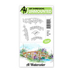 Art Impressions - Watercolor Collection - Unmounted Rubber Stamp Set - Bridge