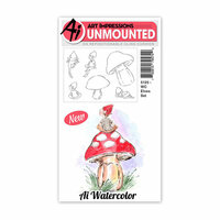Art Impressions - Watercolor Collection - Unmounted Rubber Stamp Set - Elves