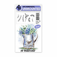 Art Impressions - Watercolor Collection - Unmounted Rubber Stamp Set - Foliage 4
