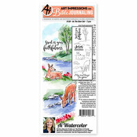 Art Impressions - Bible Journaling Collection - Unmounted Rubber Stamp Set - As The Deer