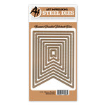 Art Impressions - Steel Dies - Banner Double Stitched