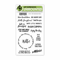 Art Impressions - Watercolor Collection - Clear Photopolymer Stamp Set - Sentiment 2