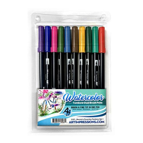 Art Impressions - Watercolor Collection - Dual Brush Pen Set - Bonnie's Favorites 1