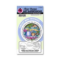 Art Impressions - Circlet Mini Tryfolds Collection - Stamp and Die Set - Gardening
