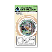 Art Impressions - Circlet Mini Tryfolds Collection - Stamp and Die Set - Elk