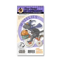 Art Impressions - Wheelies Collection - Stamp and Die Set - Halloween Cat