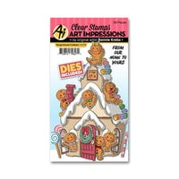 Art Impressions - Christmas - Cubbies Collection - Stamp and Die Set - Gingerbread