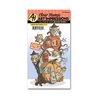 Art Impressions - Halloween - Cubbies Collection - Stamp and Die Set - Autumn Owl