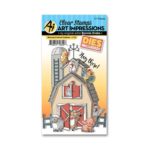 Art Impressions - Cubbies Collection - Stamp and Die Set - Barnyard Animal