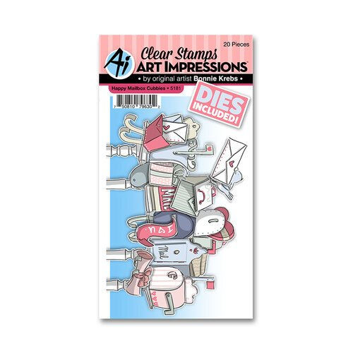 Art Impressions - Cubbies Collection - Stamp and Die Set - Happy Mailbox