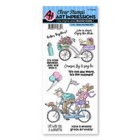 Art Impressions - Work and Play Collection - Clear Photopolymer Stamps - Enjoy the Ride