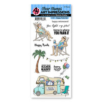 Art Impressions - Work and Play Collection - Clear Photopolymer Stamps - Happy Trails