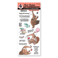 Art Impressions - Funny Farm Collection - Clear Photopolymer Stamps - Crazy Antics