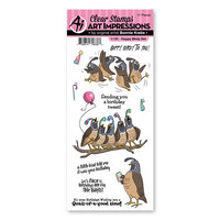 Art Impressions - Funny Farm Collection - Clear Photopolymer Stamps - Hoppy Birdy