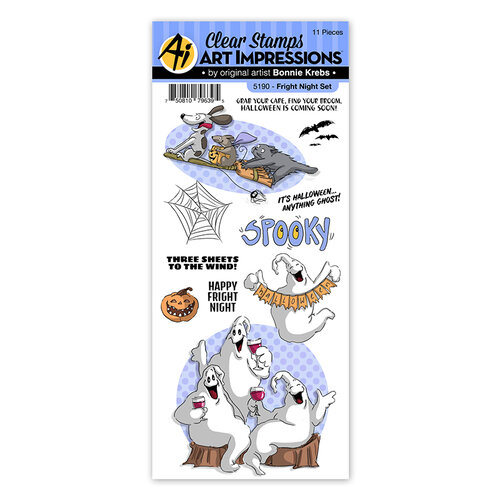Art Impressions - Halloween - Clear Photopolymer Stamps - Fright Night