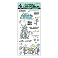 Art Impressions - Christmas - Clear Photopolymer Stamps - Penguin Cheer