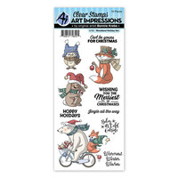 Art Impressions - Christmas - Clear Photopolymer Stamps - Woodland Holiday