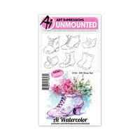 Art Impressions - Watercolor Collection - Unmounted Rubber Stamp Set - Shoe