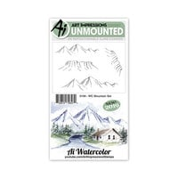 Art Impressions - Watercolor Collection - Unmounted Rubber Stamp Set - Mountain