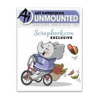 Art Impressions - Unmounted Clear Stamp - Exclusive Elephant on a Bike