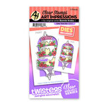 Art Impressions - Twisters Collection - Stamp and Die Set - Cake
