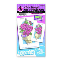 Art Impressions - Twisters Collection - Stamp and Die Set - Floral