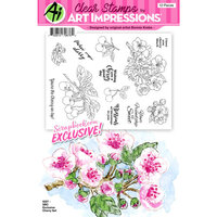 Art Impressions - Clear Photopolymer Stamp Set - Cherry