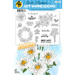 Art Impressions - Clear Photopolymer Stamp Set - Daisies