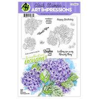 Art Impressions - Clear Photopolymer Stamp Set - Hydrangeas