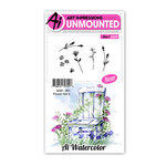 Art Impressions - Watercolor Collection - Unmounted Rubber Stamp Set - Flower Set 4