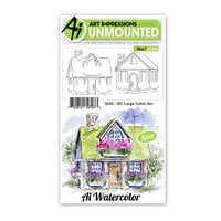 Art Impressions - Watercolor Collection - Unmounted Rubber Stamp Set - Large Cabin