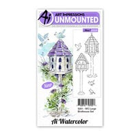 Art Impressions - Watercolor Collection - Unmounted Rubber Stamp Set - Large Birdhouse