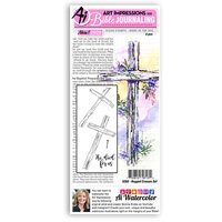 Art Impressions - Bible Journaling Collection - Clear Photopolymer Stamps - Rugged Crosses