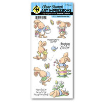 Art Impressions - Easter Collection - Clear Photopolymer Stamps - Easter Bunnies