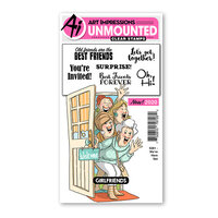 Art Impressions - Girlfriends Collection - Clear Photopolymer Stamps - We're Here