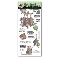 Art Impressions - Funny Farm Collection - Clear Photopolymer Stamps - Possum