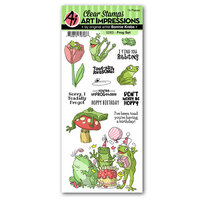 Art Impressions - Funny Farm Collection - Clear Photopolymer Stamps - Frog