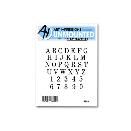 Art Impressions - Basics Collection - Clear Photopolymer Stamps - Small Alphabet