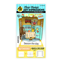 Art Impressions - Stamp and Die Set - Matchbook Kitchen