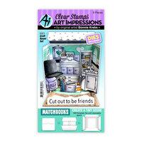 Art Impressions - Stamp and Die Set - Matchbook Craft Room