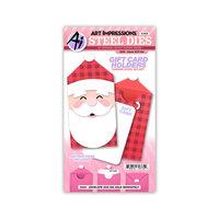 Art Impressions - Stamp and Die Set - Santa Gift Card Holder